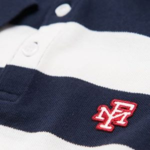 FRANKLIN&MARSHALL POLO PIQUET POLO SHORT NAVY STRIPE