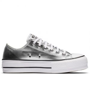 CONVERSE ALL STAR CTAS LIFT OX SILVER/BLACK/WHITE