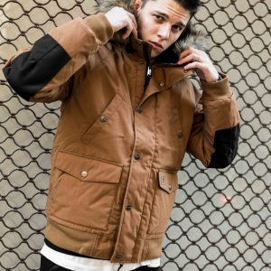 CARHARTT TRAPPER JACKET HAMILTON BROWN/BLACK