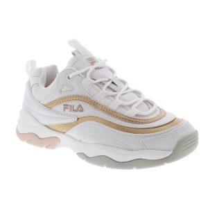 FILA RAY F LOW WMN WHITE/SPANISH VILLA
