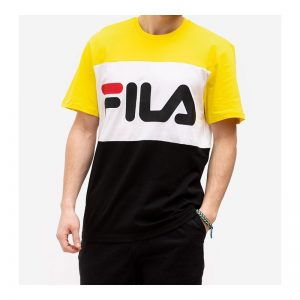 FILA MEN DAY TEE BLACK/EMPIRE YELLOW/BRIGHT WHITE