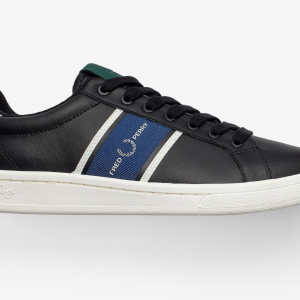 FRED PERRY B721 LEATHER /WEBBING 102/BLACK