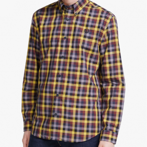 FRED PERRY 5COLOUR GINGHAM SHIRT GOLD