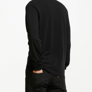 RED PERRY LS TWIN TIPPED SHIRT BLACK