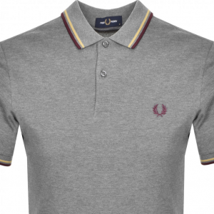FRED PERRY TWIN TIPPED SHIRT GREY MARL