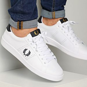 FRED PERRY B721 LEATHER 200/WHITE