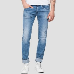 REPLAY CALÇA ANBASS DENIM SUPER STRETCH DARK INDIGO