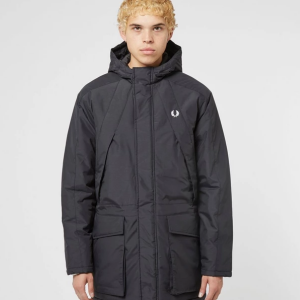 FRED PERRY PADDED ZIP THROUGH JACKET NAVY